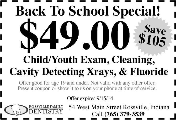 back to school special coupon